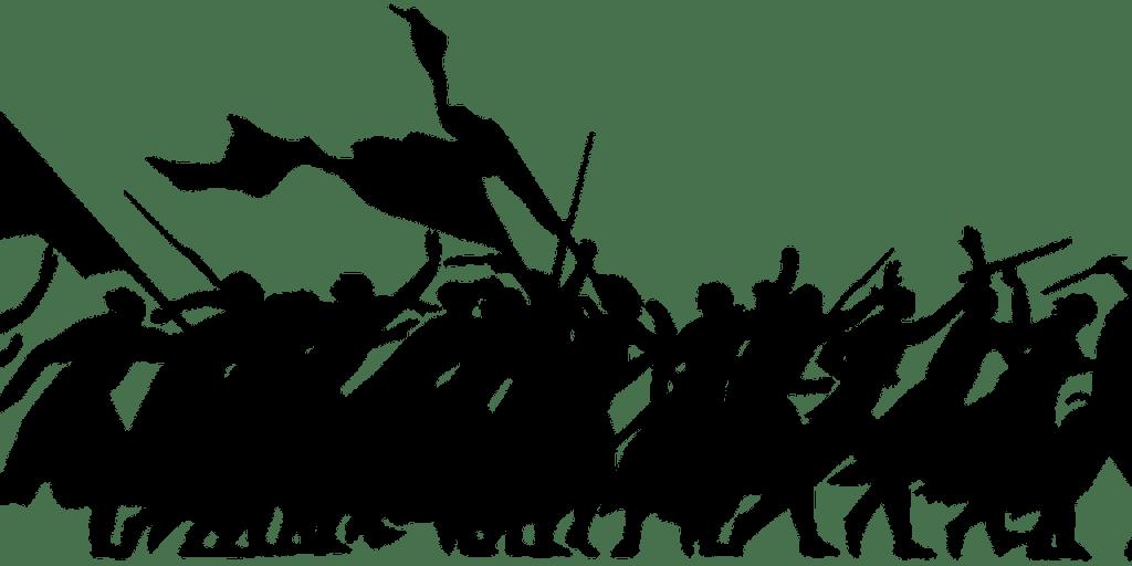 Silhouette of a revolt