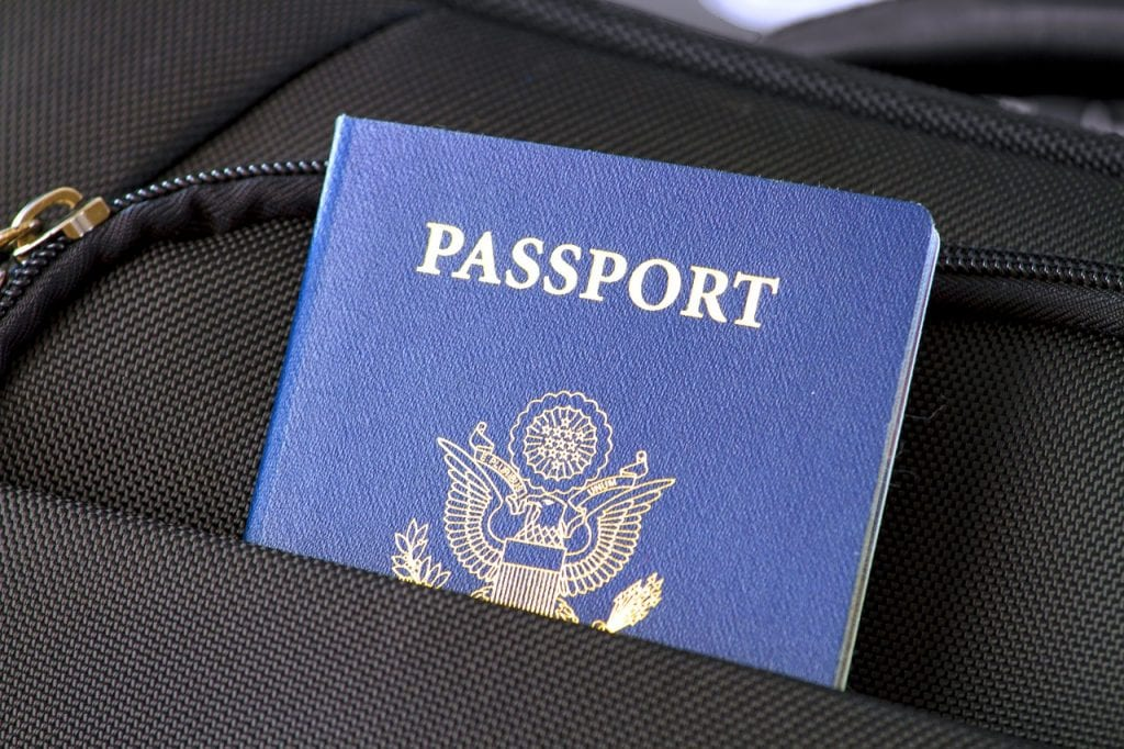 passport in luggage