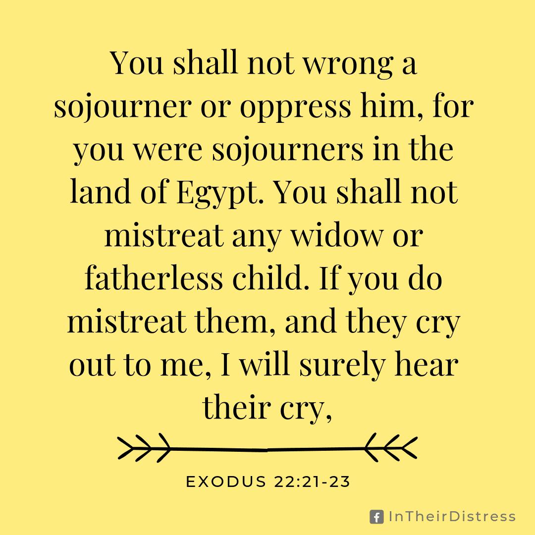 Exodus 22:21-23