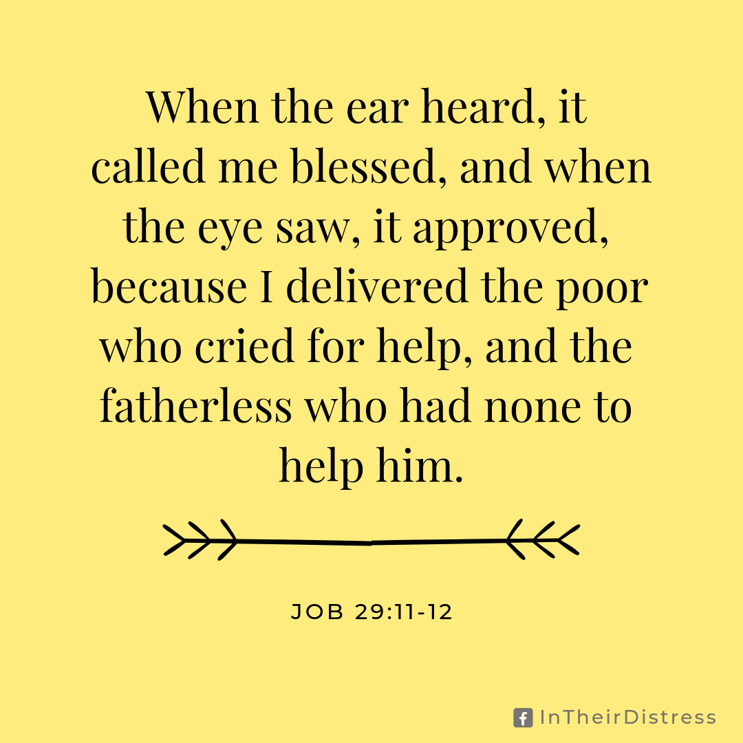 Job 29:11-12